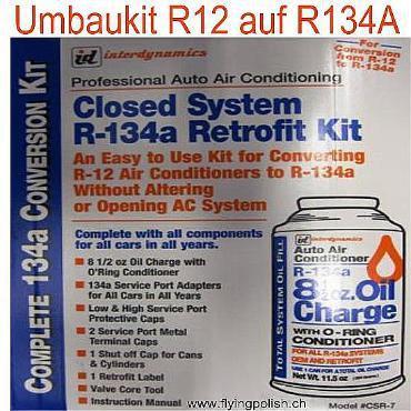 Klimaservice und Umbau R12 auf R134a